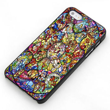 Disney Characters Stained Glass  For  Samsung Galaxy S3 / S4 and IPhone 4 / 4S / 5 / 5S / 5C Case