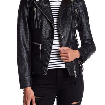 Blanc Noir | Faux Leather Moto Jacket | Nordstrom Rack