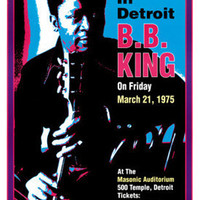 B.B. King Masonic Auditorium Detroit 1974 Art Print