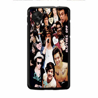 Harry Styles One Direction Collage Clothes Off Nexus 5 Case
