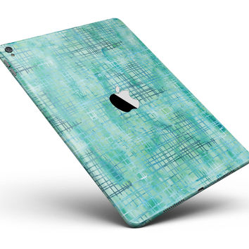 "Aqua Watercolor Cross Hatch Full Body Skin for the iPad Pro (12.9"" or 9.7"" available)"