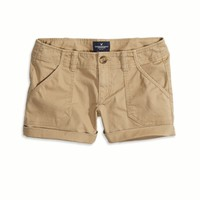 AEO FACTORY SURPLUS TWILL MIDI SHORT