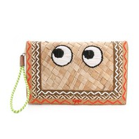 Anya Hindmarch Side Eye Straw Clutch