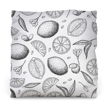 Citrus Love Throw Pillow