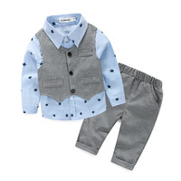 Sunday Best 3pc Vest + shirts + jeans baby boy clothing set