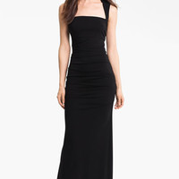 Nicole Miller Ruched Matte Jersey Gown