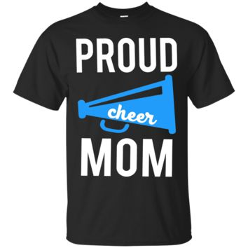 Proud Cheer Mom Support Cheerleading T-Shirt_Black