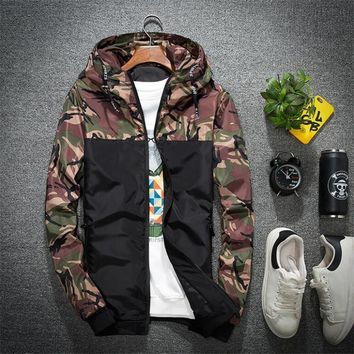 IGGY New Camouflage Jacket Men Women Plus Size Camo Hooded Windbreaker Jackets Military Canvas Jacket Parka Fashion Streetwear
