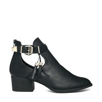 Truffle Cut Out Boots with Tassel Detail