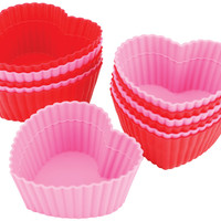 Heart Silicone Standard Baking Cups - 12 Ct