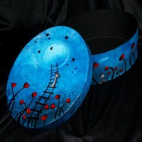 Reaching for the Stars - Hand Painted Box by Jaime Best