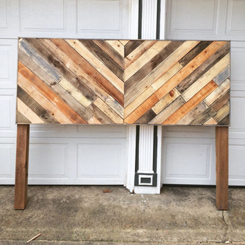 Chevron Pallet Headboard