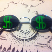 90s Hologram Dollar Sign Sunglasses