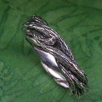 TWISTED TWIGS Wedding Ring This band made in by BandScapes