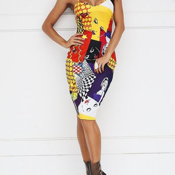 Pop Art Spaghetti strap Dress