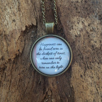 Wisdom from Dumbledore Necklace, Harry Potter Jewelry, Be Happy and Stay Positive