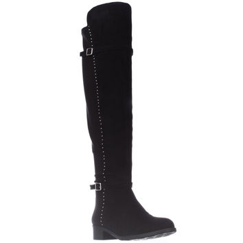 Ivanka Trump Offin Studded Knee High Boots - Black