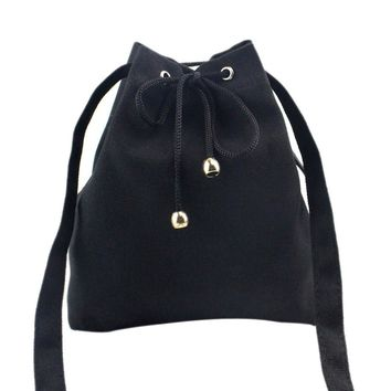 Women Fashion Canvas Drawstring Handbag Shoulder Bag Large Tote Ladies Purse