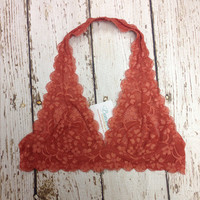 Lace Bralette in Rust