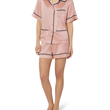 Millicent Oyster Silk Pajama Set