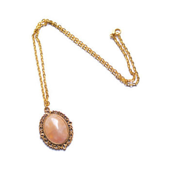 The pink stone princess necklace
