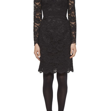 Corded Lace Long Sleeve Dress