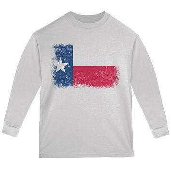Born and Raised Texas State Flag Youth Long Sleeve T Shirt