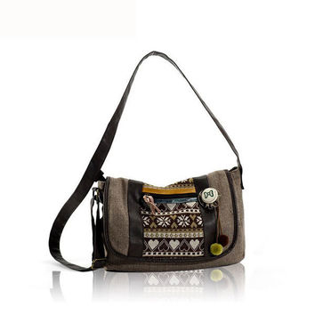 Women National Style Creative Worsted Shoulder Bags Crossbody Bags