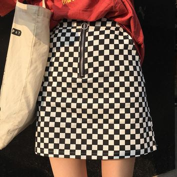 RETRO CHECKERED SKIRT