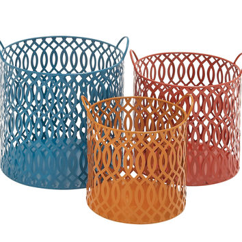 Unique and Matchless Metal Basket Set Of 3