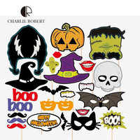 24pcs Halloween Party Supplies Horror Skull Photo Props 2016 Hot Sale Creative Funny Design Party Decorations