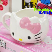 Sanrio Hello Kitty Ceramic Cup Tea Milk Coffee Mug Pink