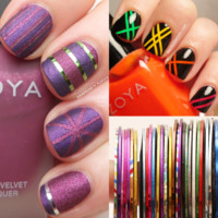 $0.99 NAIL ART STRIPING TAPE DESIGN LINES SET 30 COLOR Available - BornPrettyStore.com