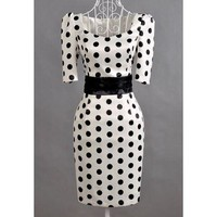 Vintage Polka Dot Sheath Dress