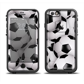 The Soccer Ball Overlay Apple iPhone 6/6s LifeProof Fre Case Skin Set