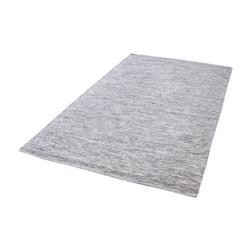 8905-001 Alena Handmade Cotton Rug In Black And White - 3ft x 5ft