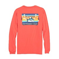 Mountain Weekend Cooler Long Sleeve T-Shirt in Sea Coral by Southern Tide