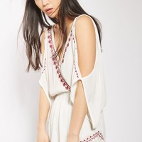 Embroidered Flower Playsuit by Band of Gypsies
