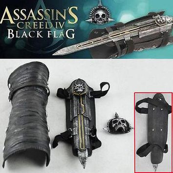 2016 Hot Assassins Creed IV 4 Black Flag Pirate Hidden Blade Edward Gauntlet Cosplay Replica Props Collectibles