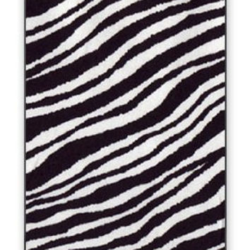 Zoo Animal Zebra Skin Hair iPhone 5 Quality Hard Snap On Case for iPhone 5/5S - AT&T Sprint Verizon - Black Frame