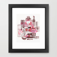 Make up Framed Art Print by Illustra