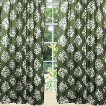 "Mogulinterior Indian Window Panels Set of 2 Medallion Scrolls Curtains (Length:84"")"