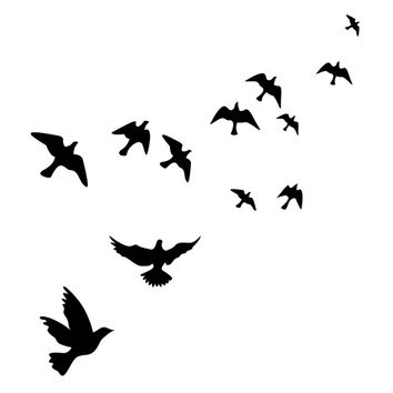 Waterproof Flying Birds Wall Sticker Wall Stickers Home Decor Wall Decals Adesivo De Parede Pegatinas De Pared hv3n