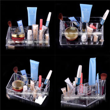 Clear Makeup Organizer Acrylic Cosmetics Display Drawer