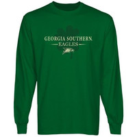 Georgia Southern Eagles St. Paddy's Long Sleeve T-Shirt - Green