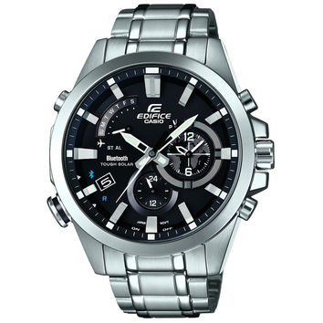 Casio - Men's Edifice Time Traveller Bluetooth Solar-Powered Chronograph Watch EQB-510D-1AER