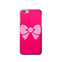 P7119 Pink Bow Phone Case For IPHONE 6