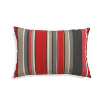 "Sunbrella ® Rose Multi Striped 20""x13"" Outdoor Pillow"