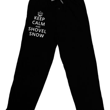 Keep Calm and Shovel Snow Adult Lounge Pants - Black