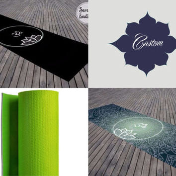 Custom Yoga Mat Personalized Exercise Mat Mandala Ohm Meditation Mat Bohemian Design Graphics